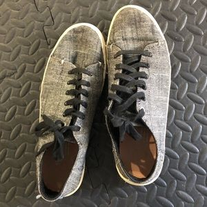 Black Textured Chambray Lenox Sneakers